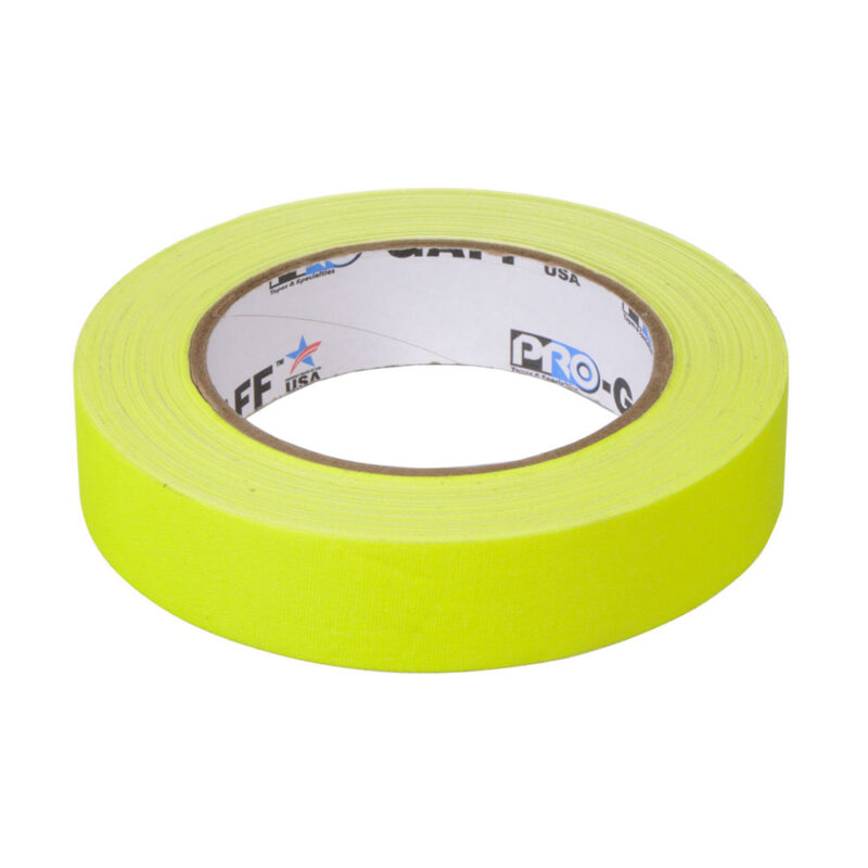 progaff 24 25m fluo yellow gaffer tape frenel rental expendables